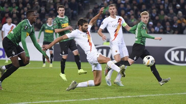 Borussia Moenchengladbach-Roma 2-1, il tabellino