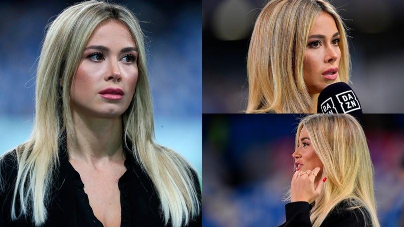 """Diletta Leottaincanta il San Paolo con un look """"total black"""""""