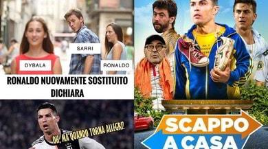 Juve, Sarri sostituisce Ronaldo. Le reazioni del web