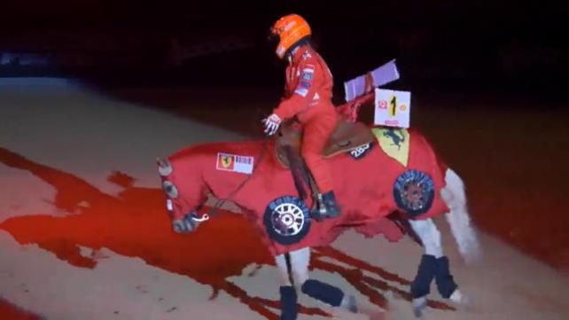 La figlia di Schumacher corre... a cavallo!