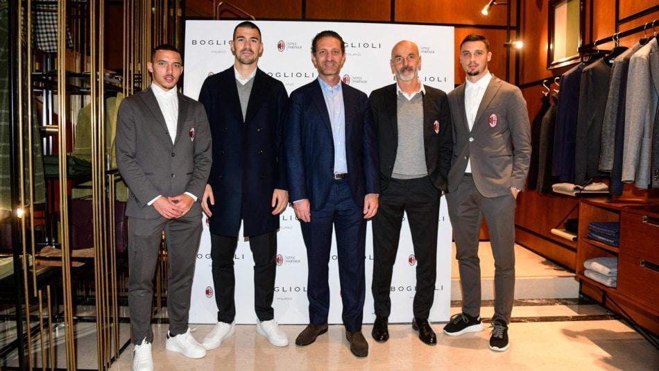 Il Milan e Boglioli festeggiano la style partnership