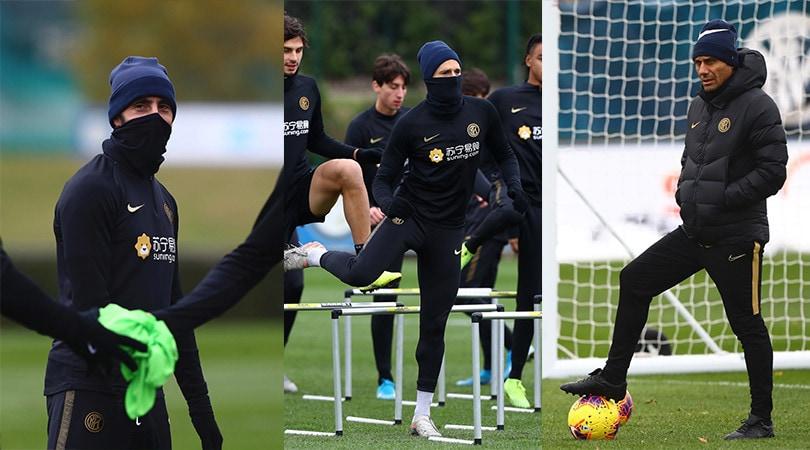 Inter, Borja Valero e Candreva fanno i ninja sotto gli occhi di Conte