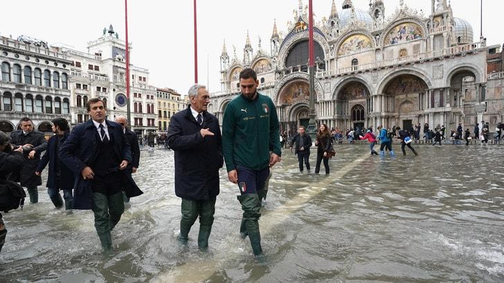 Venezia, delegazione azzurra in visita