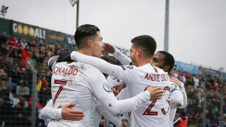 Ronaldo gol e il Portogallo si qualifica per Euro 2020: 2-0 al Lussemburgo
