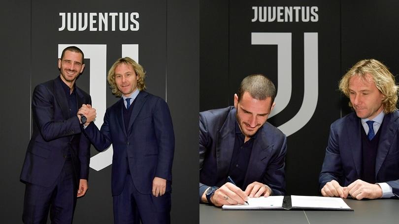 Juve, Bonucci rinnova: la firma fino al 2024