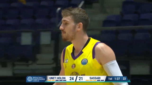 Hapoel Holon-Sassari 92-94, gli highlights