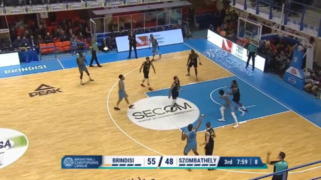 Brindisi-Szombathely 98-92, gli highlights