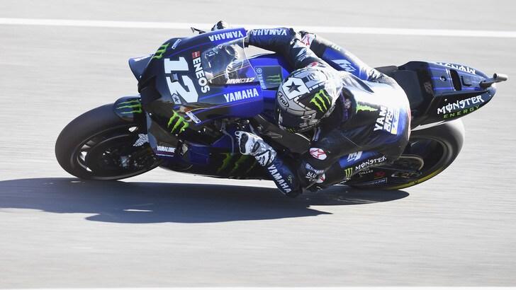 MotoGp: Viñales parte forte nei test, indietro Valentino Rossi