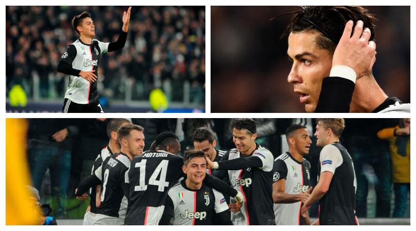 Dybala illumina la notte di Champions della Juve
