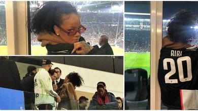 Juve, all'Allianz c'è una tifosa speciale: Elkann accoglie Rihanna
