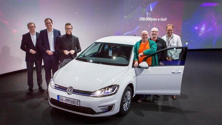 Volkswagen e-Golf, cifra tonda: consegnata la numero 100mila