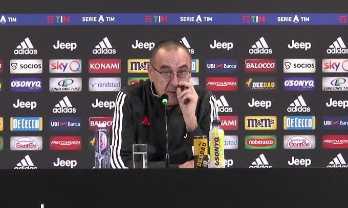 """Sarri: """"Ronaldo? Ha fatto un allenamento notevole"""""""