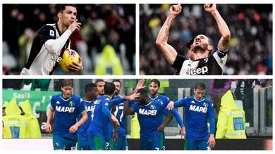La Juve frena con il Sassuolo: 2-2 allo Stadium