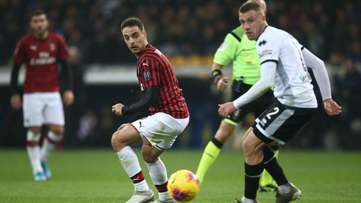 Parma-Milan 0-1, il tabellino