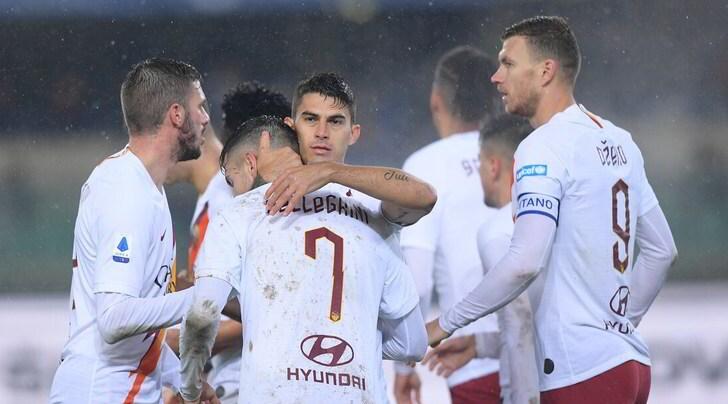 Vittoria a Verona, la Roma torna in zona Champions