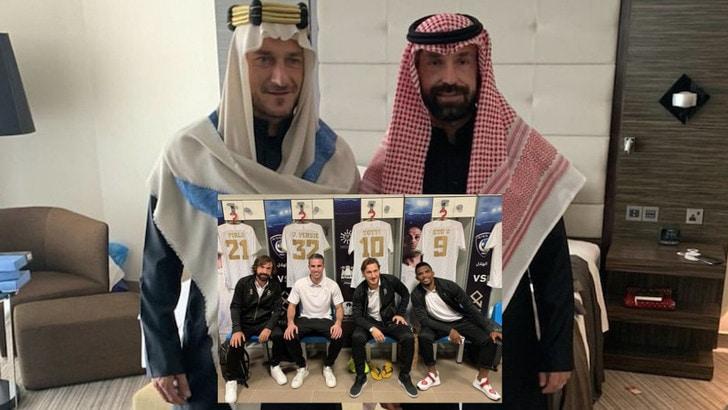Pirlo con Eto', Totti e Van Persie: supersquadra in Arabia