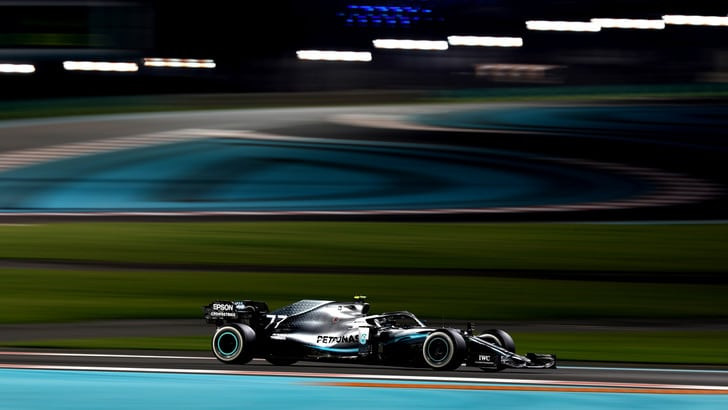 Test Abu Dhabi: Bottas chiude al comando, Vettel secondo
