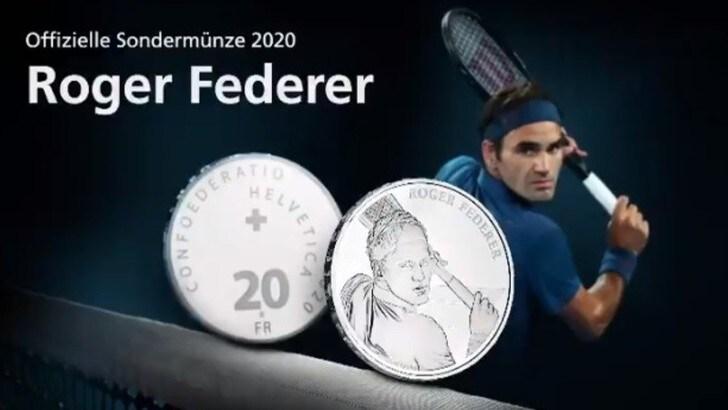 Federer, la Svizzera emette in suo onore una moneta d'argento da 20 franchi