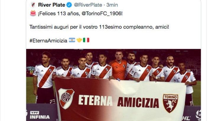 Tantissimi auguri Toro: firmato River Plate