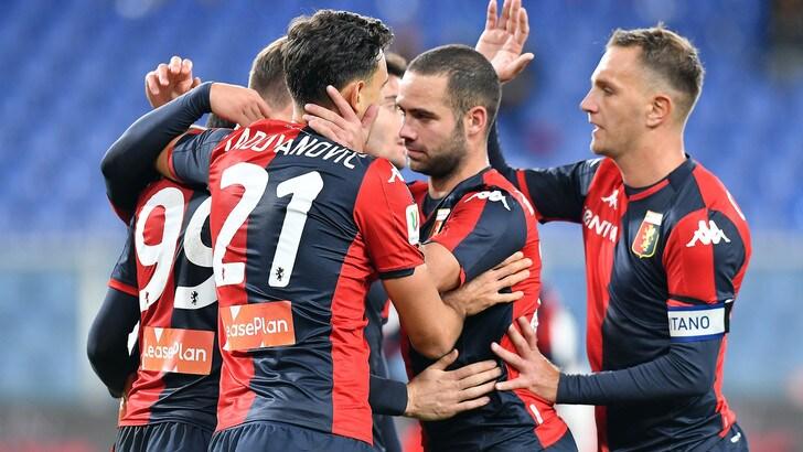 Il Genoa vince 3-2 con l'Ascoli: contro il Torino agli ottavi di finale