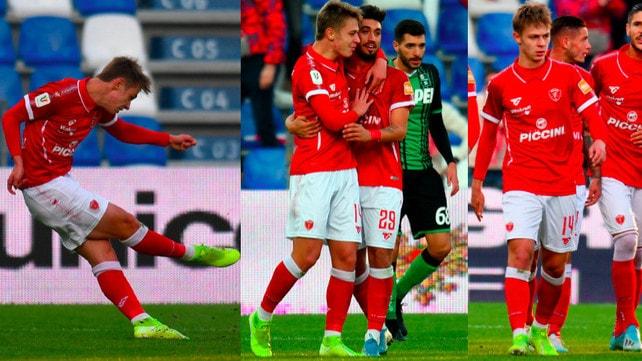 Nicolussi Caviglia, gol su punizione: prima rete tra i professionisti