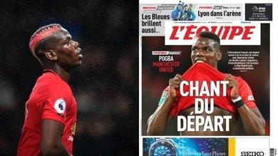 """L'Èquipe: """"Juve, Pogba via dal Manchester United, ma vuole il Real Madrid"""""""
