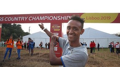 Yeman Crippa terzo a Lisbona nel cross