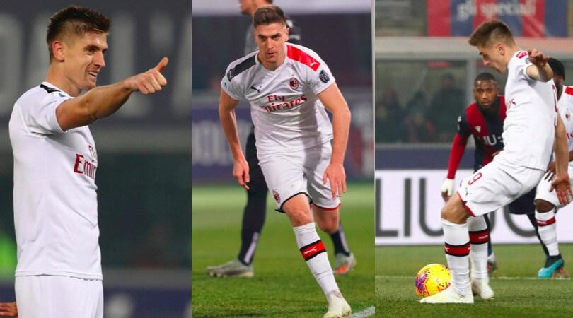 Piatek torna al gol, il Milan sbanca Bologna 3-2