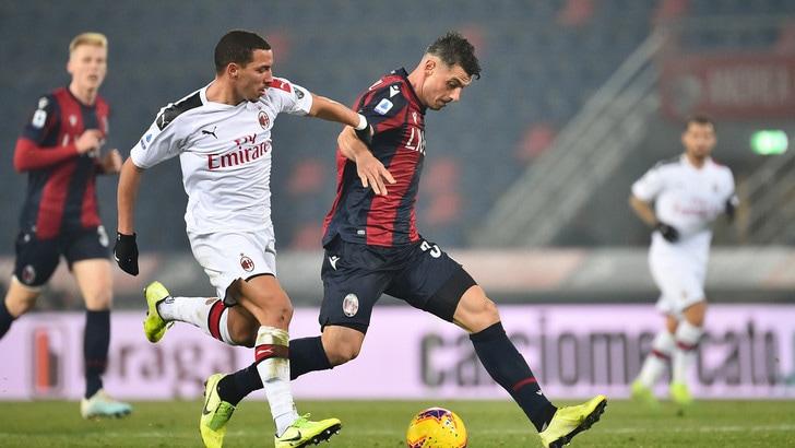 Bologna-Milan 2-3, il tabellino
