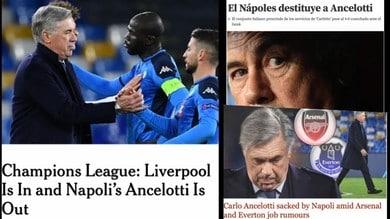 Ancelotti esonerato dal Napoli: le reazioni della stampa estera
