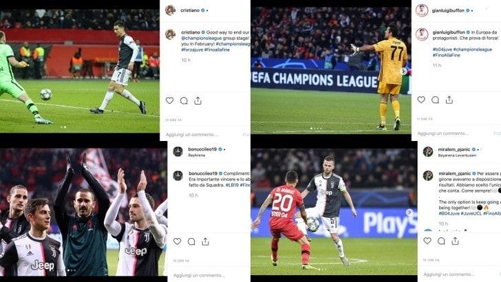 "Bayer Leverkusen-Juve, è festa sui social. Bonucci: ""Vittoria da squadra"""