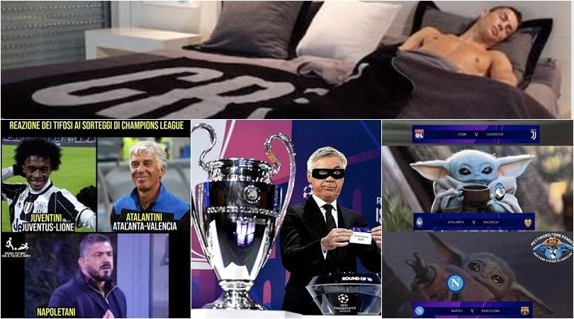 Champions, da Juve-Lione a Napoli-Barcellona: le esilaranti reazioni dei social
