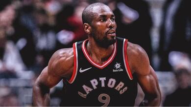 Serge Ibaka giocatore NBA dei Toronto Raptors veste Nobis