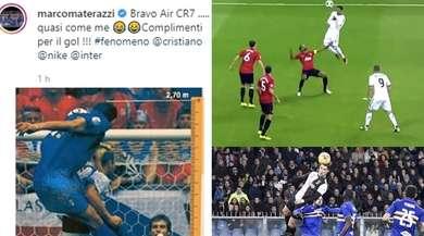 """Materazzi: """"Bravo Air CR7, quasi come me!"""". Ma Ronaldo ha fatto meglio"""