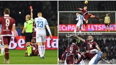 Il Torino ci prova anche in 10, la Spal passa nel finale