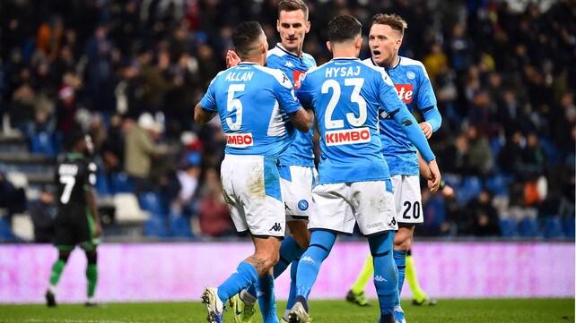 Autogol di Obiang al 94': che regalo a Gattuso! Il Napoli supera il Sassuolo