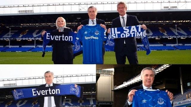 Everton, presentazione Ancelotti: ecco le foto
