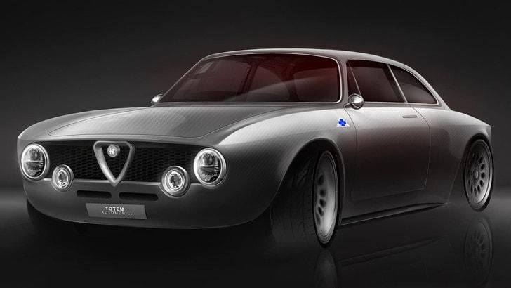 Alfa Romeo Giulia Sprint, il restomod elettrico di Totem Automobili