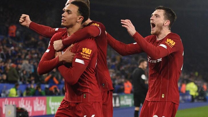 Alexander-Arnold chiude definitivamente la partita; Leicester-Liverpool 0-4.