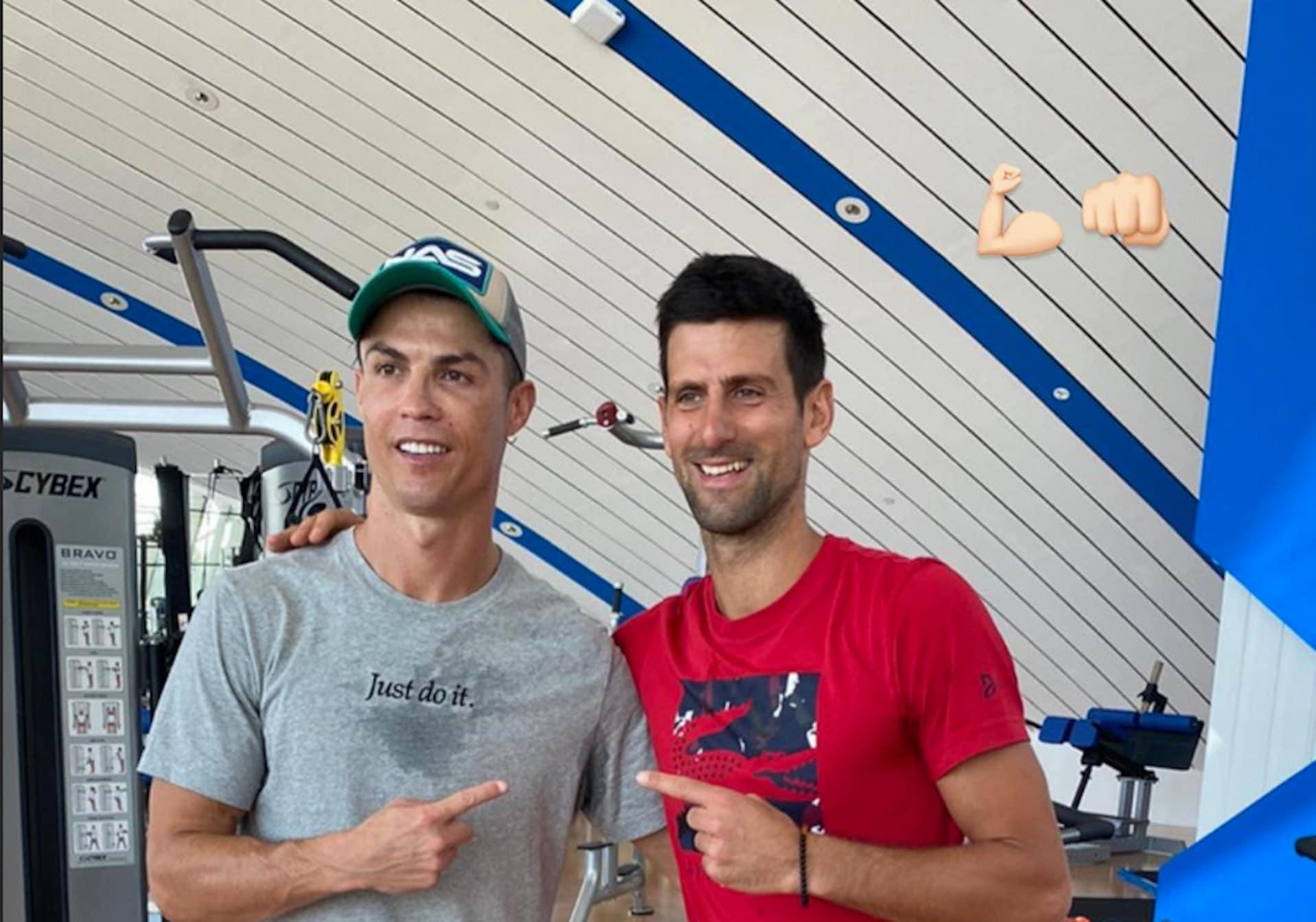 Cristiano Ronaldo sfida Djokovic: chi colpisce più in alto?