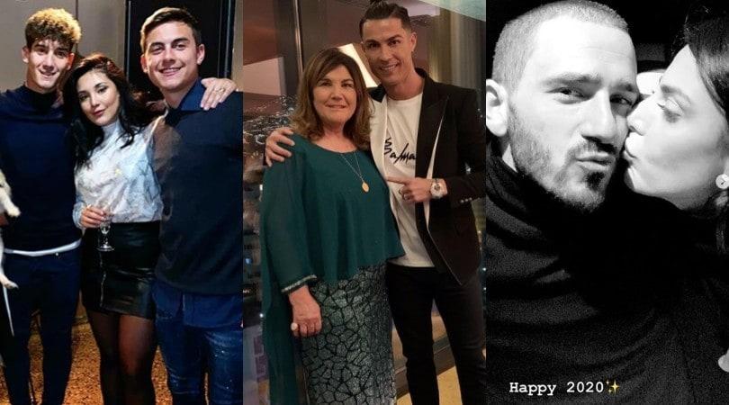 Ronaldo con la mamma, Bonucci con la moglie: benvenuto 2020!