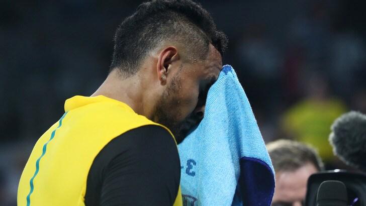 Kyrgios in lacrime per gli incendi in Australia