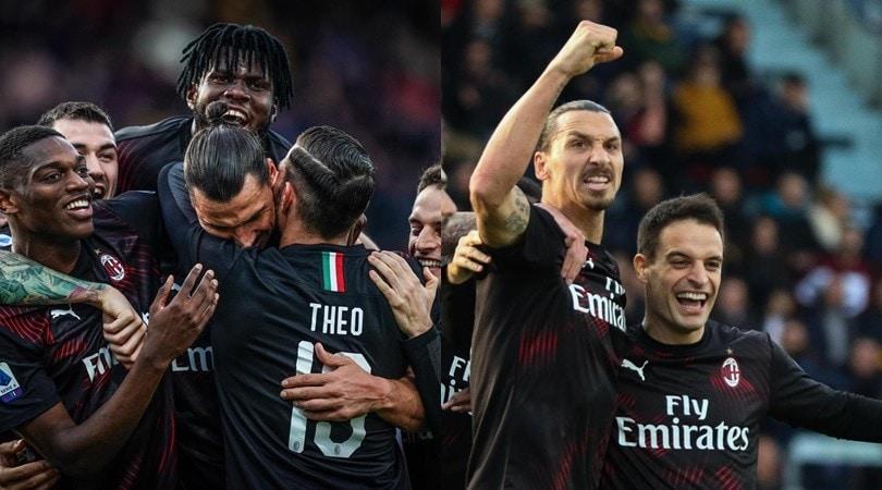 Milan, è tornato Ibrahimovic! Super gol e Cagliari ko