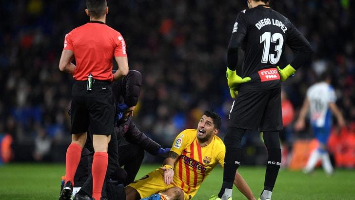 Suarez operato, stop di 4 mesi: salterà Napoli-Barcellona in Champions