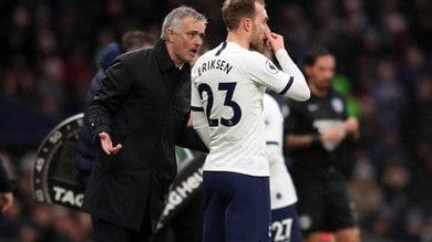"""Mourinho: """"Inter fiduciosa su Eriksen? Aspetto un'offerta..."""""""