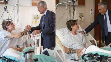 Gravina arriva in clinica per far visita a Zaniolo