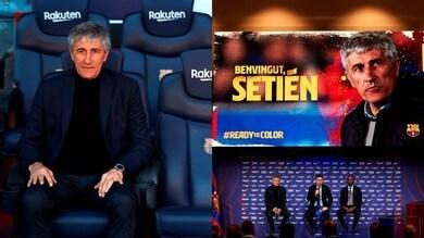 Barcellona, Setien si presenta tra entusiasmo e voglia di vincere
