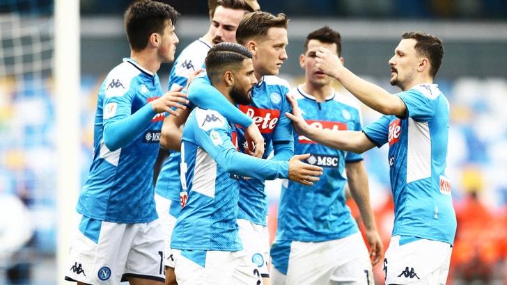 Napoli-Perugia 2-0: Insigne regala il pass ai quarti