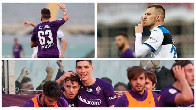 Coppa Italia, la Fiorentina vince in 10 contro l'Atalanta