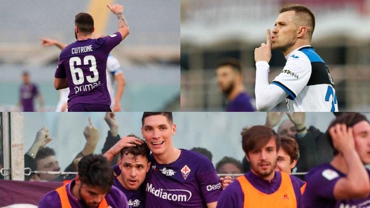 Coppa Italia: festa Fiorentina vince in 10 contro l'Atalanta